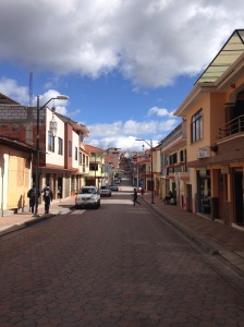 Calle en Chordeleg