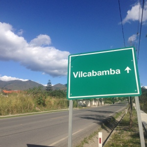 Vilcabamba sign